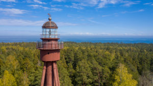 Ruhnu lighthouse drone picture