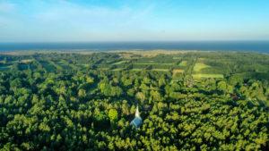 Ruhnu church drone capture