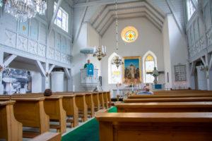 Ruhnu kiriku sisevaade