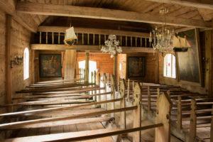 Ruhnu vana kirik sisevaade